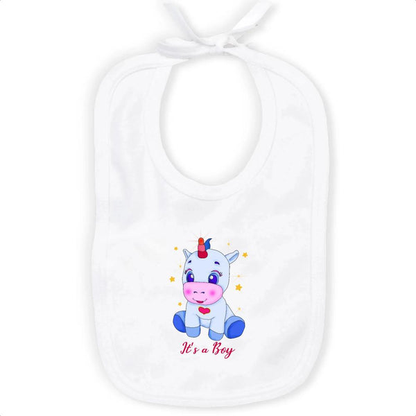 Bavoir Licorne It's a boy coton bio