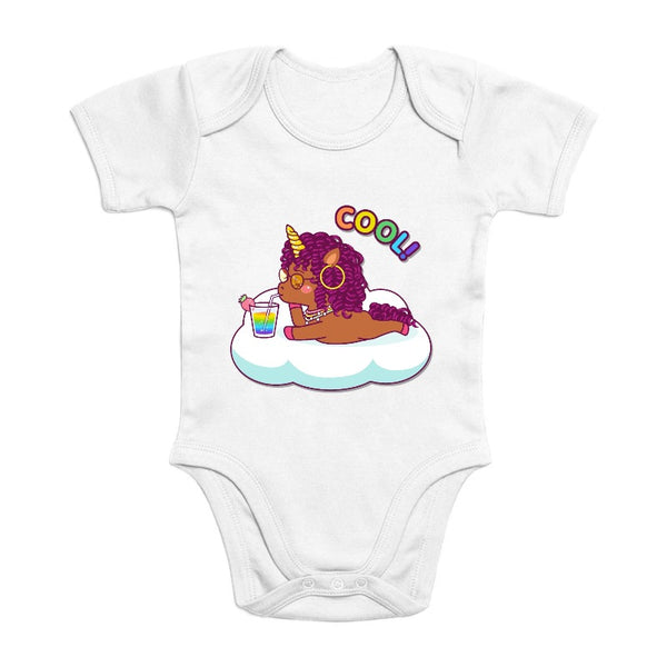 Body licorne cool curly coton bio