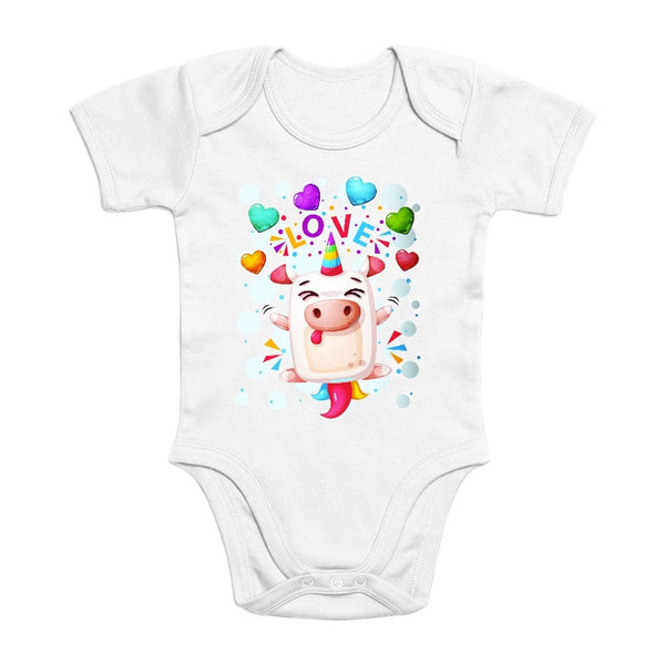 Body licorne crazy love coton bio