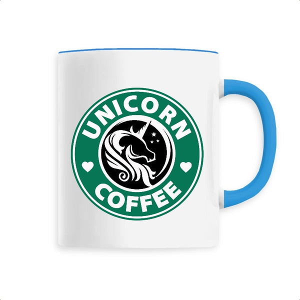 mug licorne unicorn coffee bleu