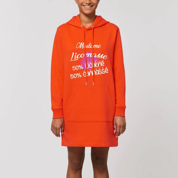 robe hoodie licornasse licorne connasse orange