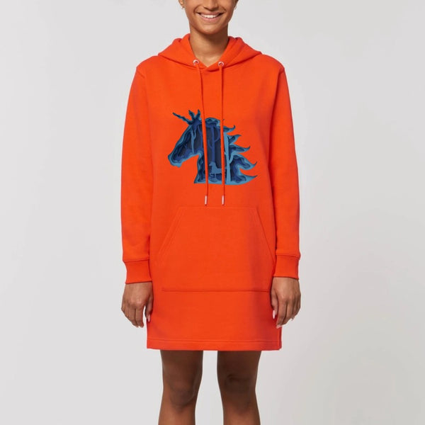 robe hoodie licorne féerique orange