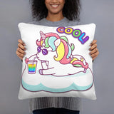 Coussin licorne Cool 45x45