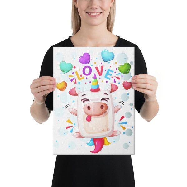 Tableau Licorne <br>Crazy Love