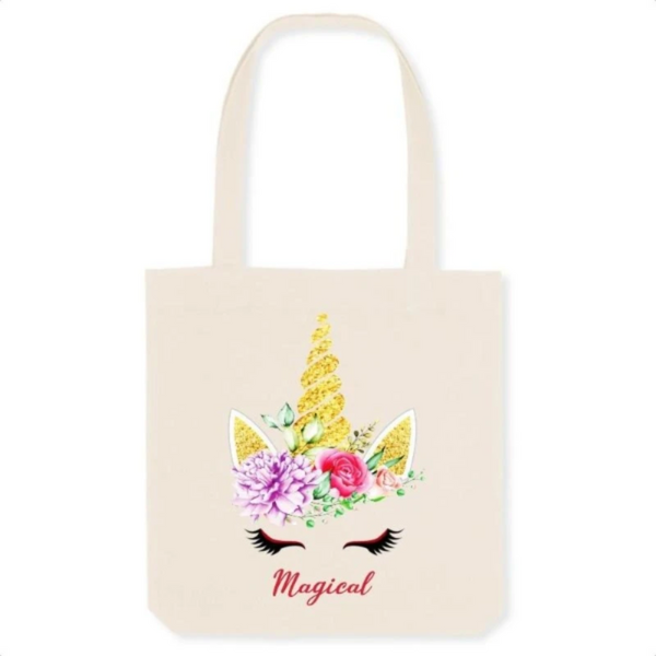 Tote bag sac licorne magical