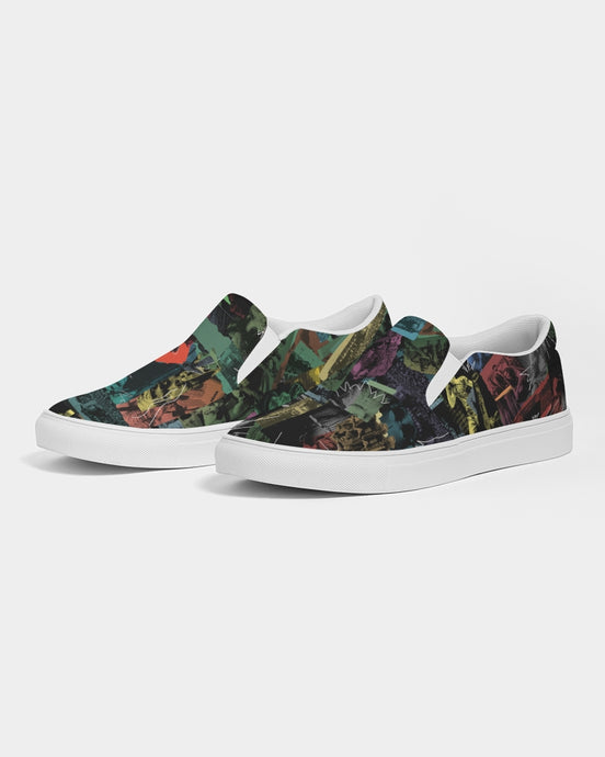 Cali Roots Riddim Collection All Over Print Mens Slip-On Canvas