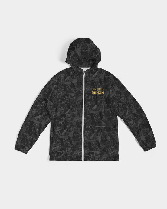 Cali Roots Riddim Collection All Over Print Men's Windbreaker Jacket