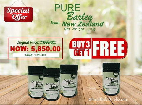 Buy 3 plus 1 Canister 110g Pure Barley Juice