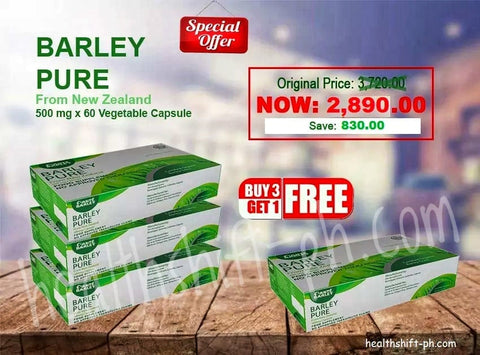 Buy 3 plus 1 Box Barley Pure Capsule