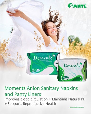 6 Packs Moments Anion Sanitary Napkins (Bundle)