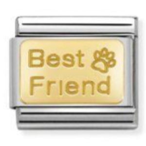 Nomination CLASSIC Gold Engraved 'Best Friend' Charm