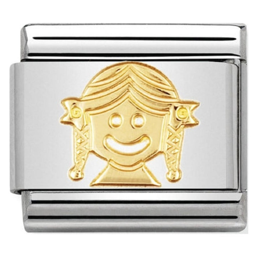 Nomination CLASSIC Gold Fun 'Girl' Charm