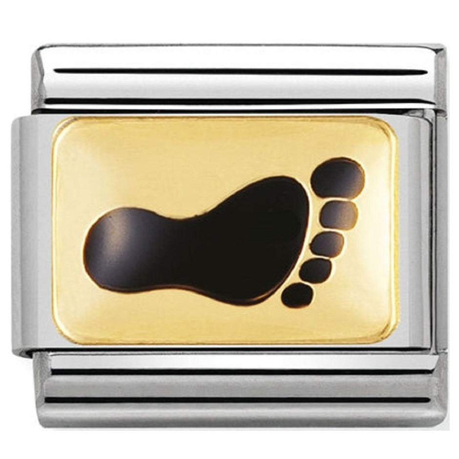 Nomination CLASSIC Black Enamel Foot Charm