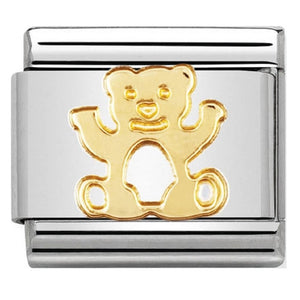 Nomination CLASSIC Gold Teddy Bear Charm