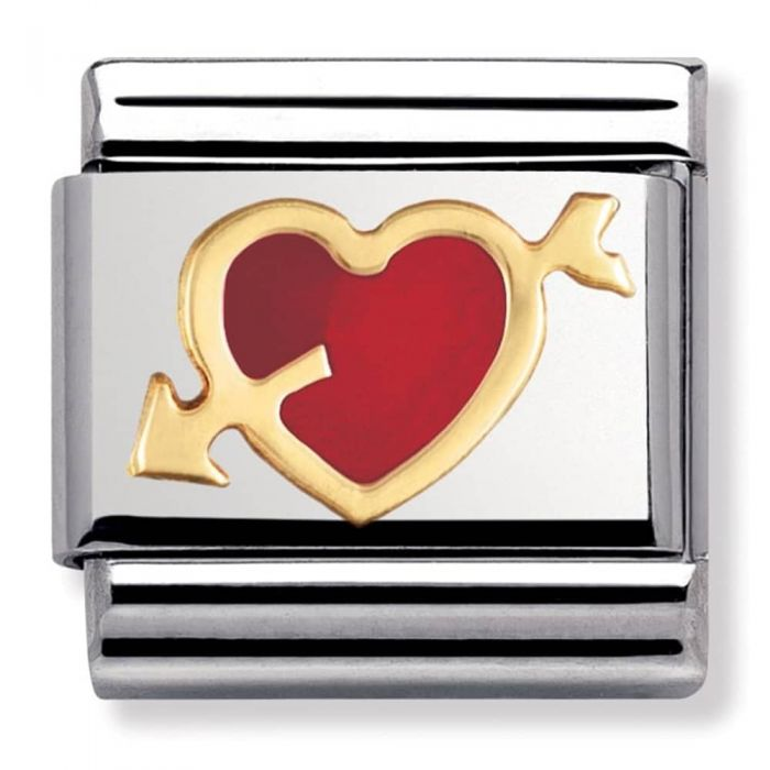 Nomination CLASSIC Red Heart With Arrow Charm