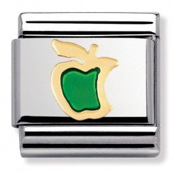 Nomination CLASSIC Bitten Green Apple Charm