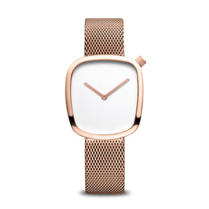 New Bering Ladies Stainless Steel  Rose Gold Pebble bracelet watch 18034-364