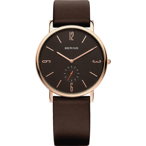 New Bering Gents Stainless Steel Rose gold  watch Ref 13739-562