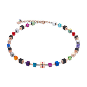 Coeur De Lion Geo CUBE Multi Colour Necklace ref 4980/10-1500