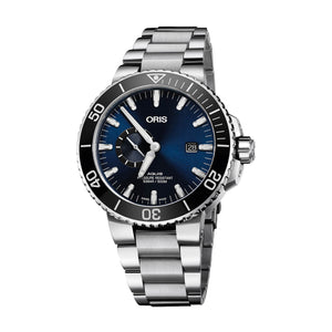 ORIS Aquis Date Blue Steel Bracelet Watch