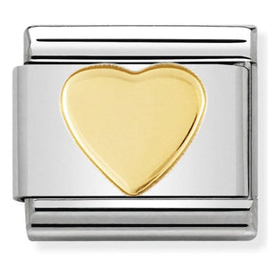 Nomination CLASSIC Gold Flat Heart Charm