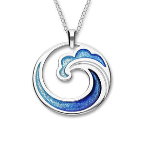 Silver Pendant with Coastal Design