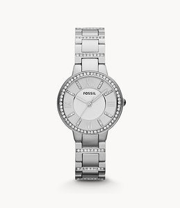 Fossil Virginia Stainless Stainless Steel Lady Bracelet Watch
