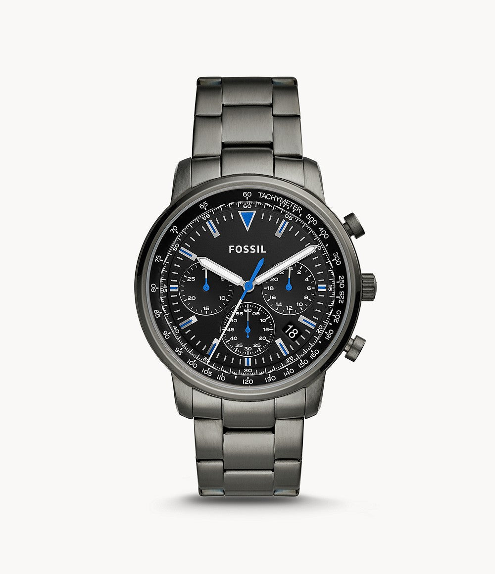 Fossil Goodwin Chronograph Smoke Stainless Steel Watch FS5518
