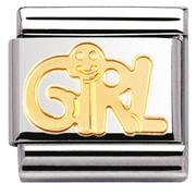 Nomination CLASSIC Gold Engraved 'Girl' Charm