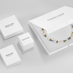 Coeur De Lion Geo CUBE Multi Colour Necklace