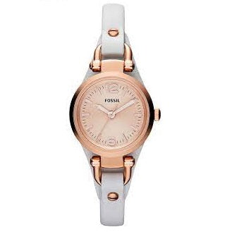 Fossil Georgia Rose PVD White Leather ES3265