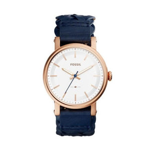 Fossil Original Boyfriend  Rose Gold Stainless Steel Lady Leather Watch