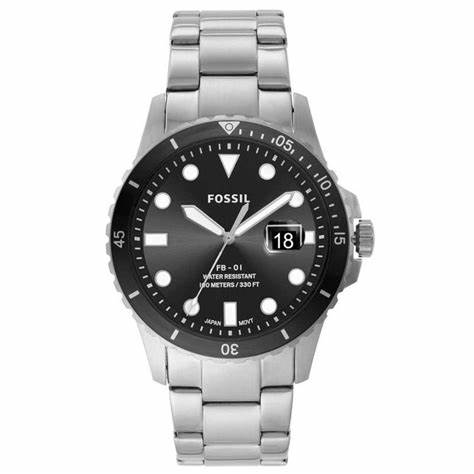 Fossil FB-01 Three-Hand Date Stainless Steel Watch