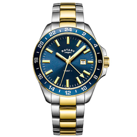 Rotary Havana GMT Two Tone Gold  Gents Bracelet Watch