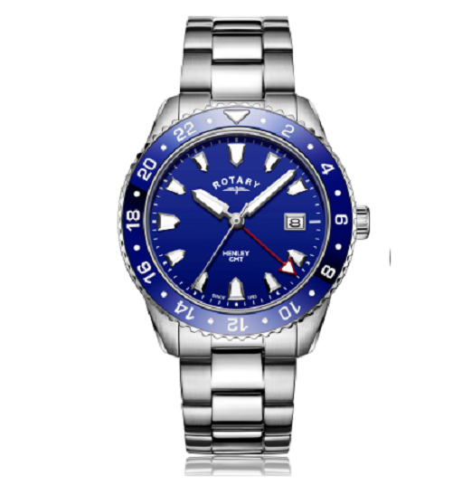Rotary Blue Henley GMT Gents Bracelet Watch