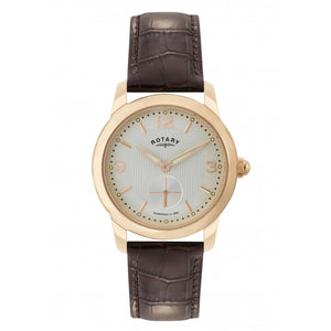 Rotary Cambridge Gold Plated Gents Watch on Leather Strap Ref GS02702/01