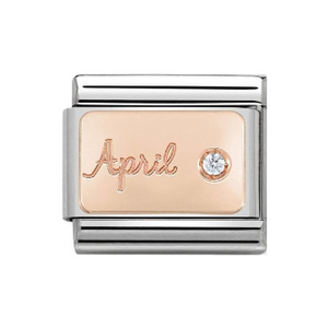 Nomination CLASSIC Rose Gold Engraved Birthstones