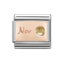 Load image into Gallery viewer, Nomination CLASSIC Rose Gold Engraved Birthstones