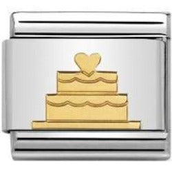 Nomination CLASSIC Gold Wedding Cake Charm