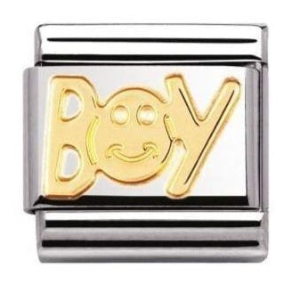 Nomination CLASSIC Gold Engraved 'Boy' Charm