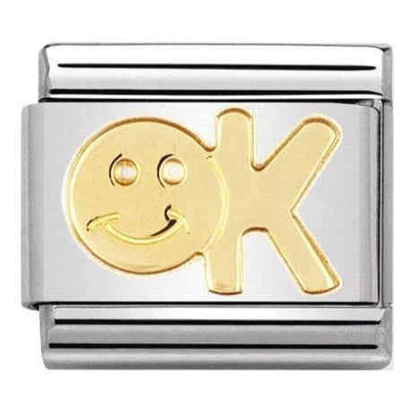 Nomination CLASSIC Gold Engraved 'OK' Charm