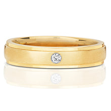 Load image into Gallery viewer, Gent's 9ct Yellow Gold Diamond Set Ring