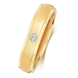 Gent's 9ct Yellow Gold Diamond Set Ring