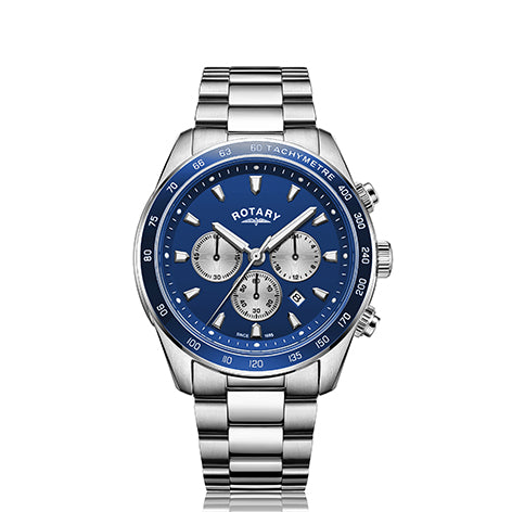 Rotary Blue Henley Gents Chronograph Bracelet Watch