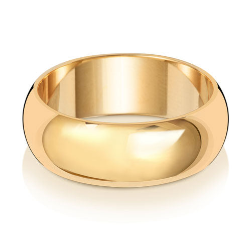 7MM D Shaped Wedding Ring