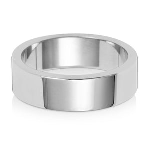 6MM Flat Flat Wedding Ring