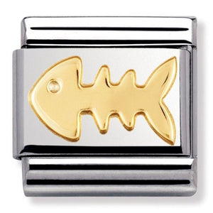 Nomination CLASSIC Gold Fish Bone Charm