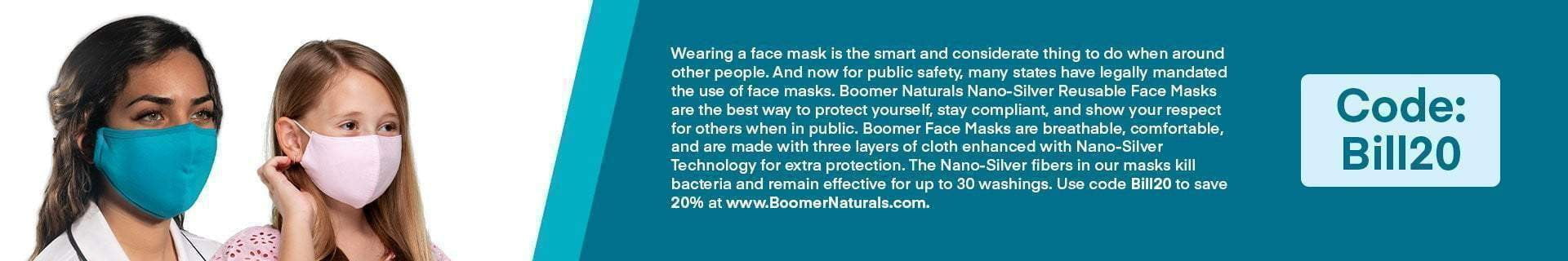 Bill O'Reilly: Boomer Nano-Silver Face Masks