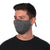 man model wearing Reusable 30-Day Adult Cloth Face Mask in solid gray, washable and wearable up to 30 times | Grey
