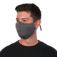 man model wearing Reusable 30-Day Adult Cloth Face Mask in solid gray, washable and wearable up to 30 times | Grey Adjustable